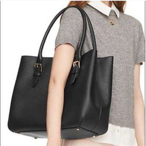 Kate Spade Cove Street Airel Black Leather Tote